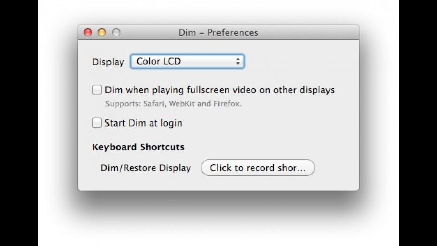 Dim for Mac - review, screenshots