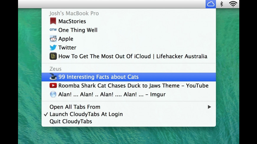 CloudyTabs for Mac - review, screenshots