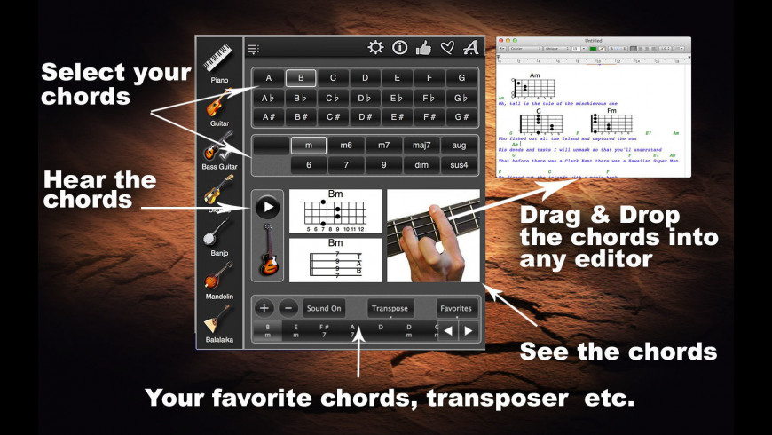 ChordsMaestro for Mac - review, screenshots