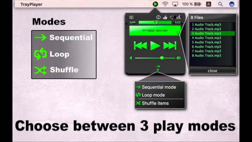 TrayPlayer for Mac - review, screenshots