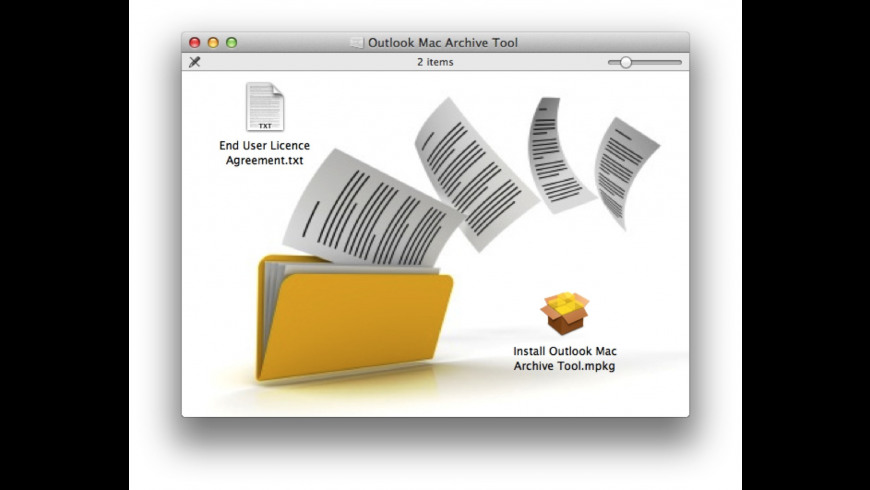 Outlook Mac Archive Tool for Mac - review, screenshots