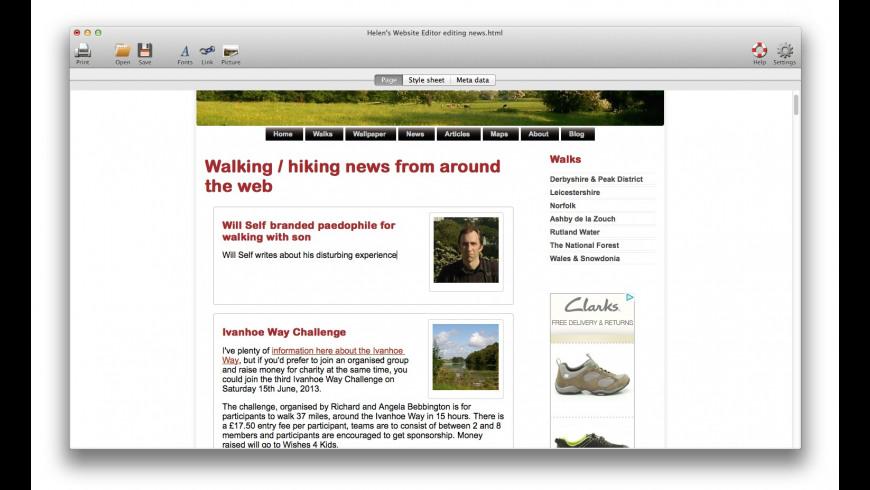 Helen's Website Editor for Mac - review, screenshots