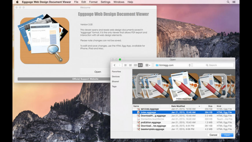 Eggpage Web Design Document Viewer for Mac - review, screenshots