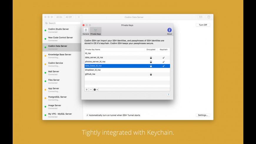 SSH Tunnel for Mac - review, screenshots