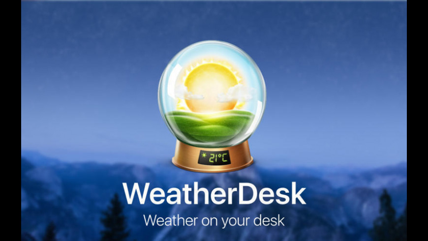 WeatherDesk for Mac - review, screenshots