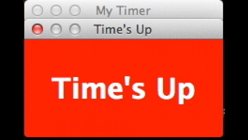 My Timer for Mac - review, screenshots