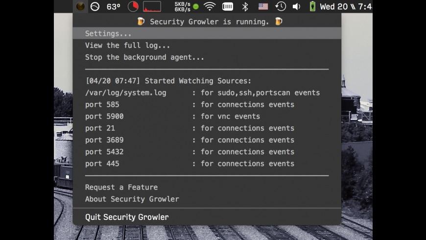 Security Growler for Mac - review, screenshots