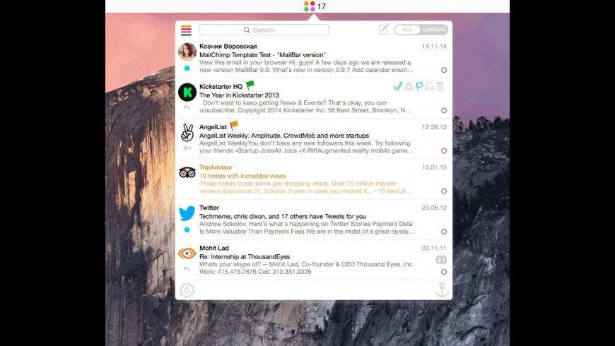 MailBar for Mac - review, screenshots