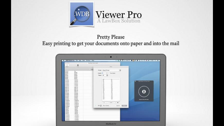 WDB Viewer Pro for Mac - review, screenshots