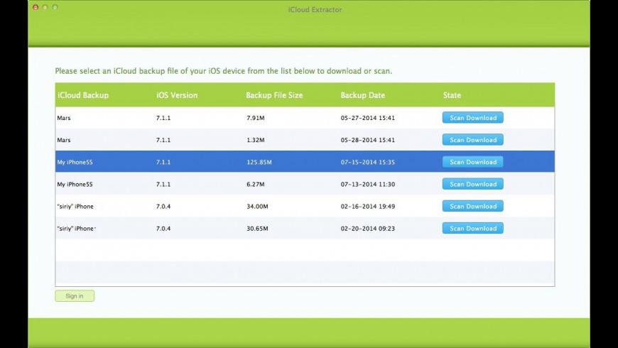 iCloud Extractor for Mac - review, screenshots