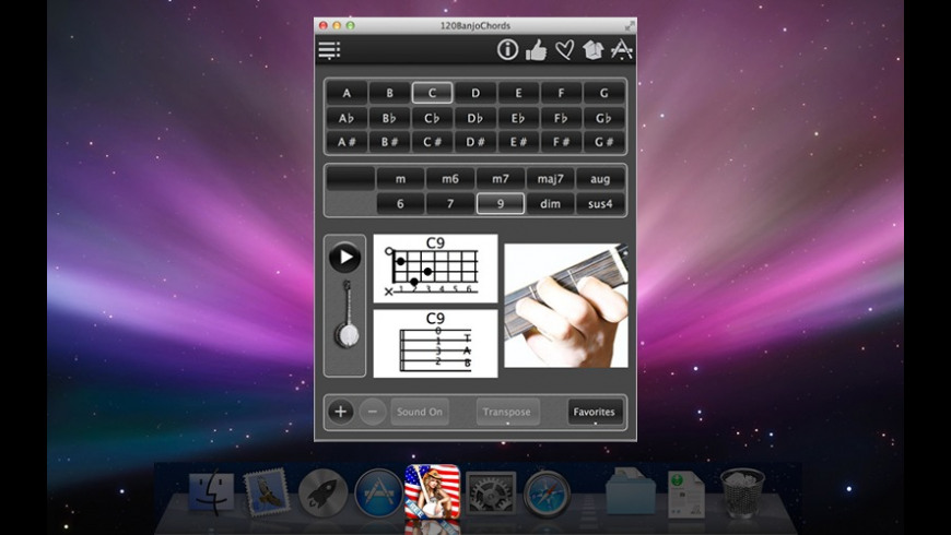 FreeBanjoChords for Mac - review, screenshots