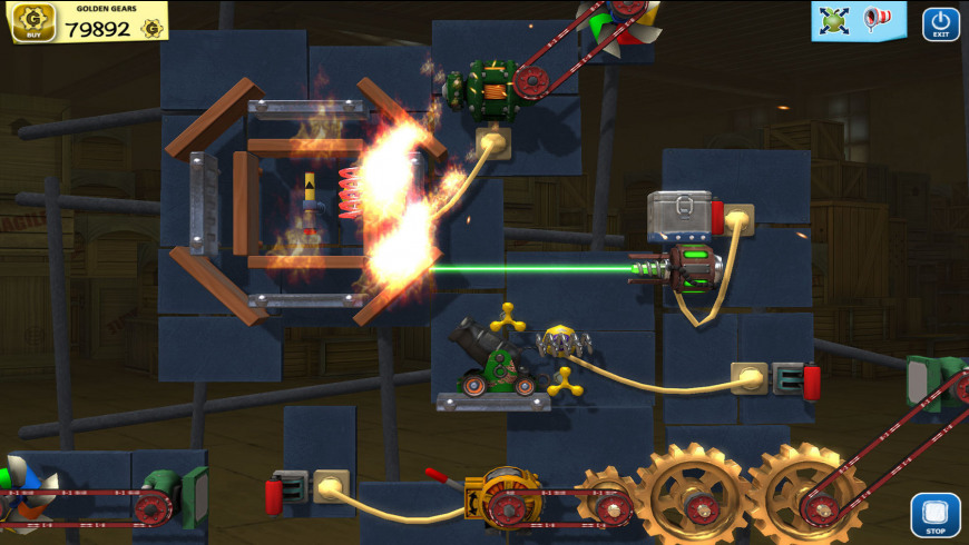 Crazy Machines Golden Gears for Mac - review, screenshots