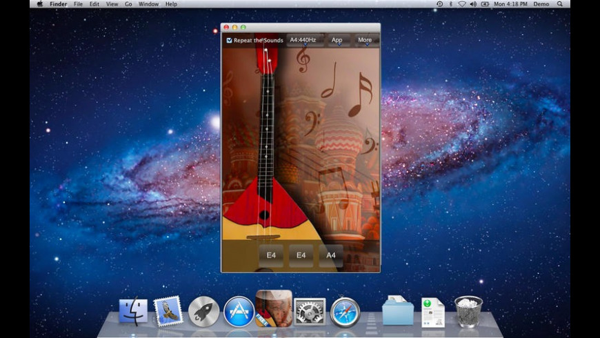 FreeBalalaikaTuner for Mac - review, screenshots