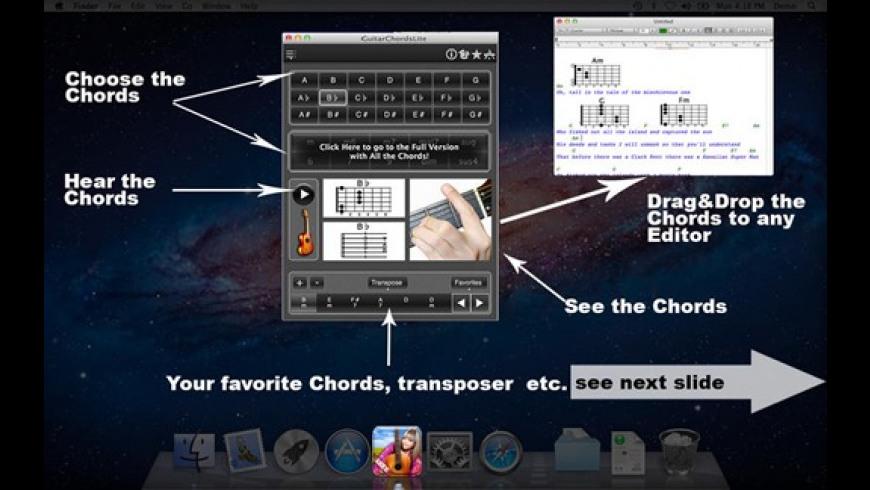 GuitarChordsLite for Mac - review, screenshots