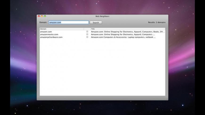 Web Neighbors for Mac - review, screenshots