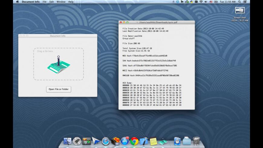 Document Info for Mac - review, screenshots