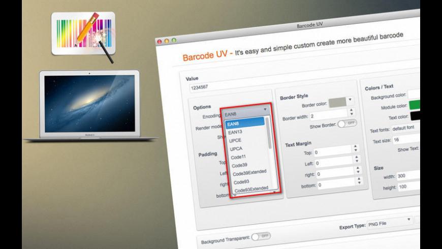 Barcode UV for Mac - review, screenshots