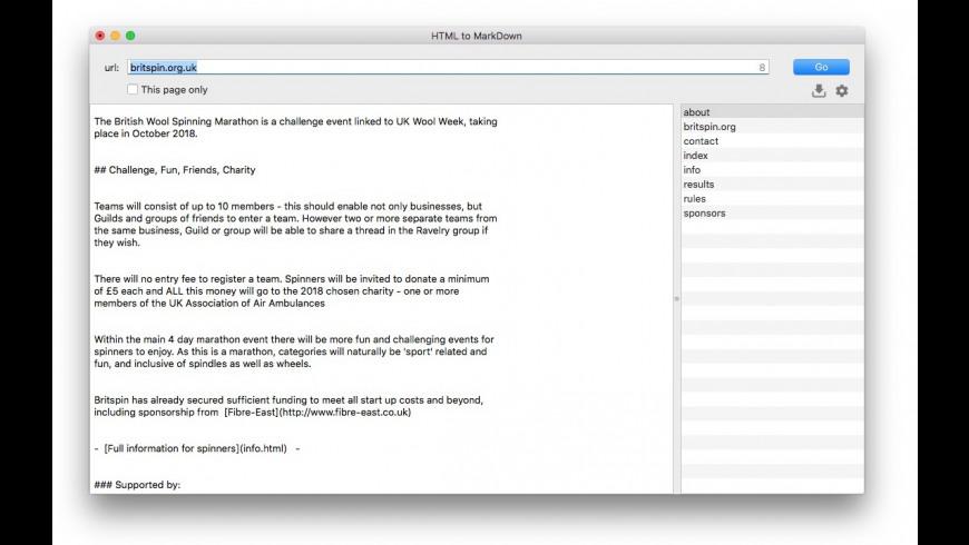 HTMLtoMD for Mac - review, screenshots