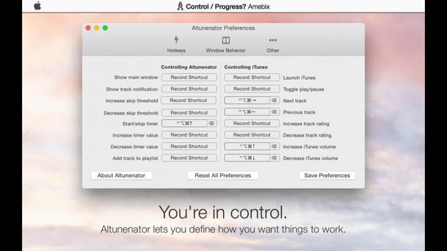 Altunenator for Mac - review, screenshots