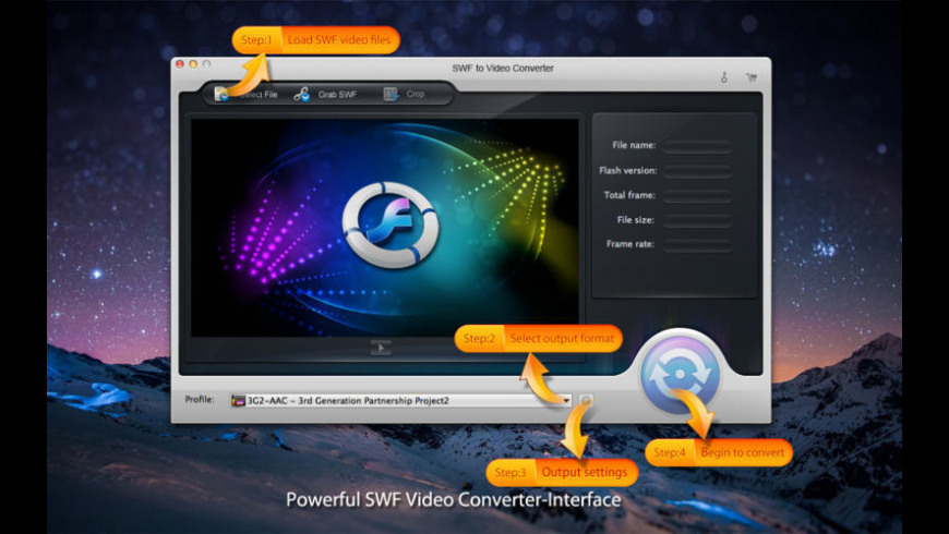 SWF to Video Converter for Mac - review, screenshots