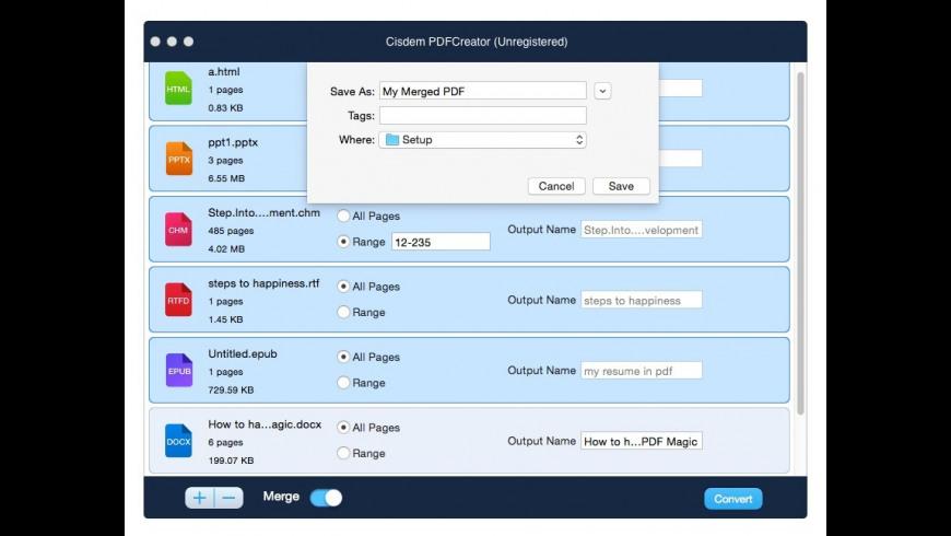 Cisdem PDFCreator for Mac - review, screenshots