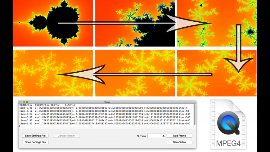 Video Fractal for Mac - review, screenshots
