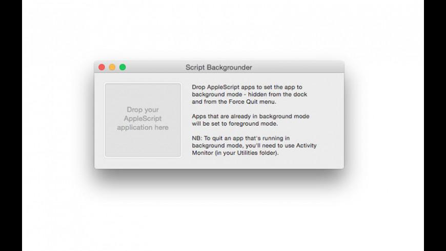 Script Backgrounder for Mac - review, screenshots