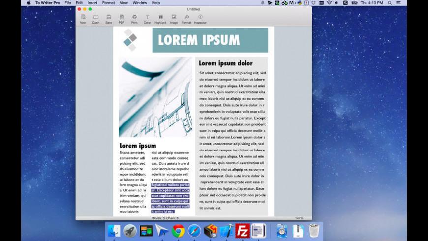 To Writer Pro for Mac - review, screenshots