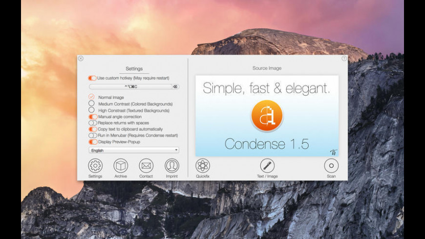 Condense for Mac - review, screenshots