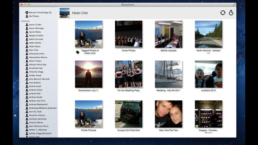 PhotoFetch for Facebook for Mac - review, screenshots