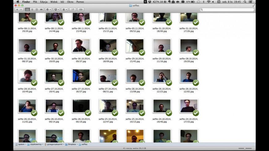 Selfie App for Mac - review, screenshots