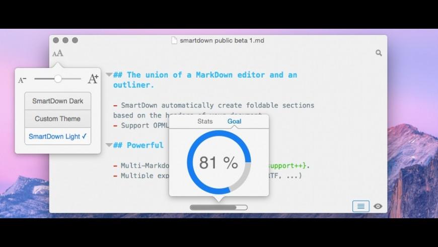 SmartDown for Mac - review, screenshots