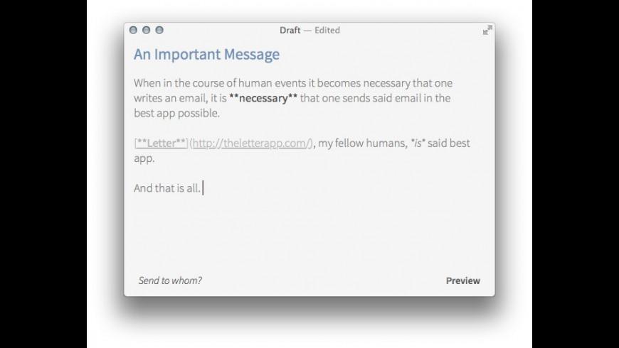 Let.ter for Mac - review, screenshots
