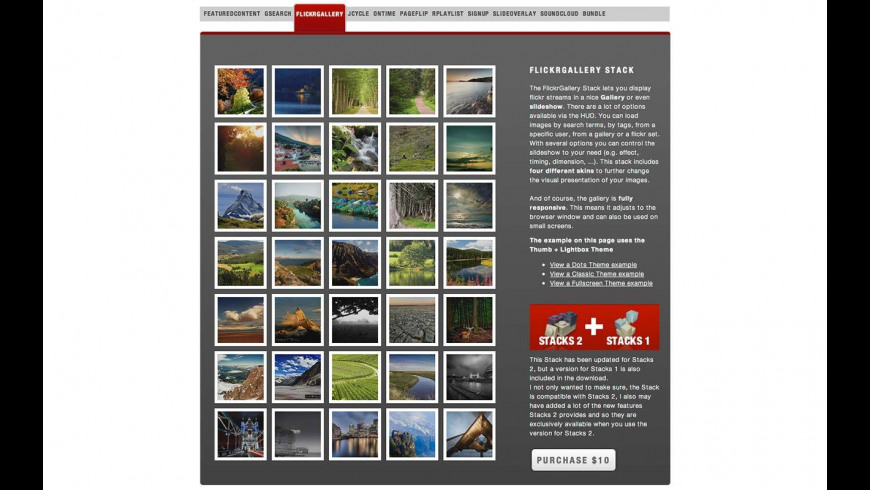 Flickr Gallery for Mac - review, screenshots