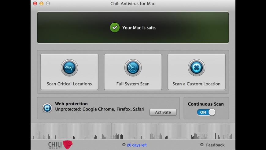 Chili Antivirus for Mac - review, screenshots