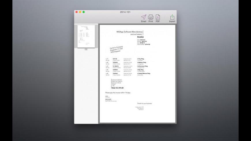 Bill free for Mac - review, screenshots