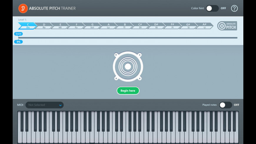 Absolute Pitch Trainer for Mac - review, screenshots