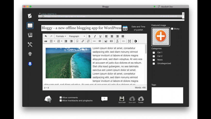 Bloggy for Mac - review, screenshots
