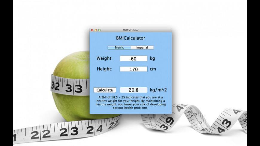 BMI-Calculator for Mac - review, screenshots