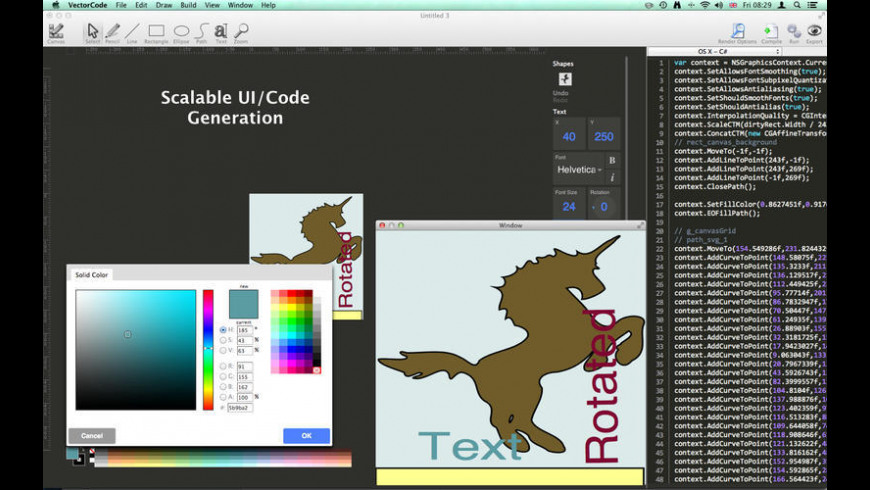 Vector Code for Mac - review, screenshots