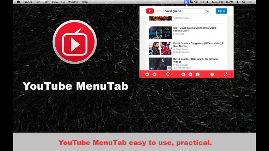 iTab for YouTube for Mac - review, screenshots
