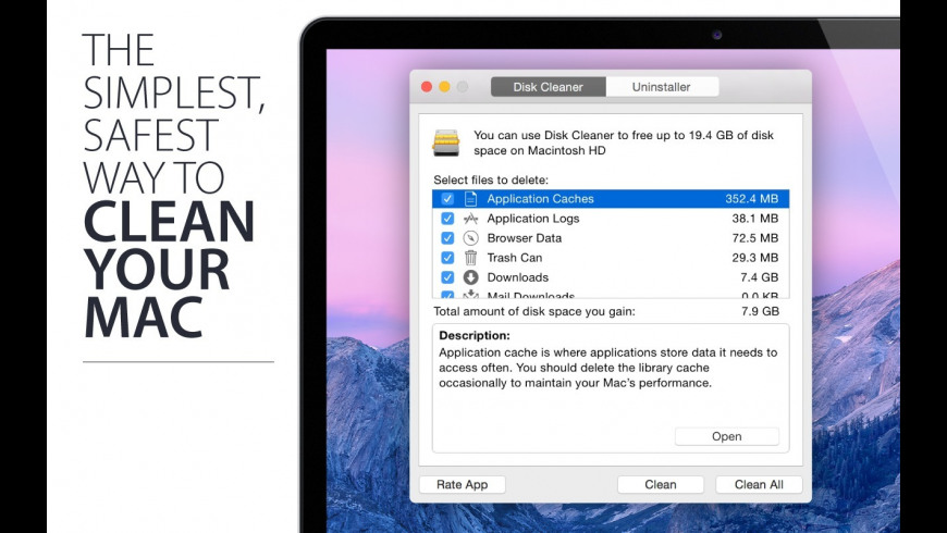 Disk Cleaner for Mac - review, screenshots