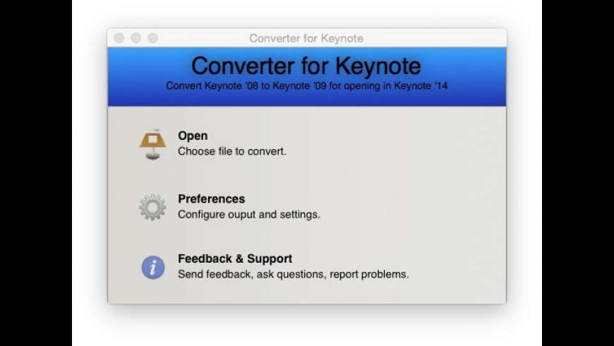 Converter for Keynote for Mac - review, screenshots