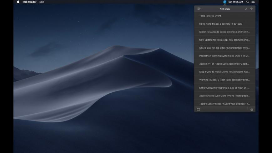 RSS Reader for Mac - review, screenshots