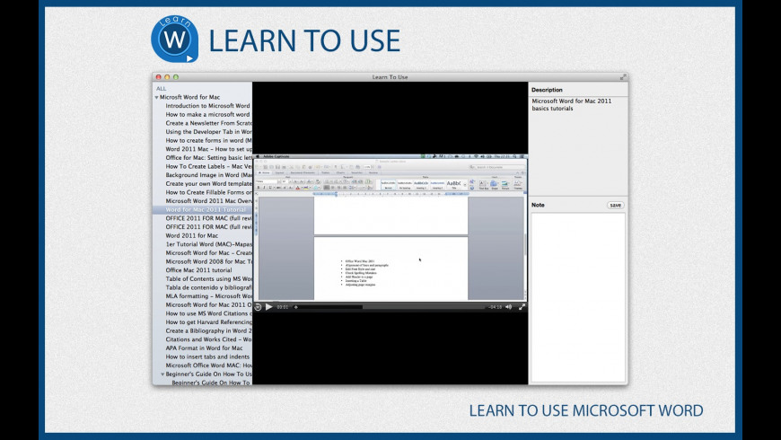 Learn To Use - Microsoft Word for Mac - review, screenshots