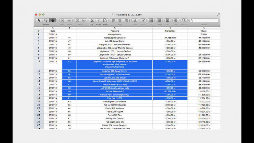 CSV Editor Pro for Mac - review, screenshots
