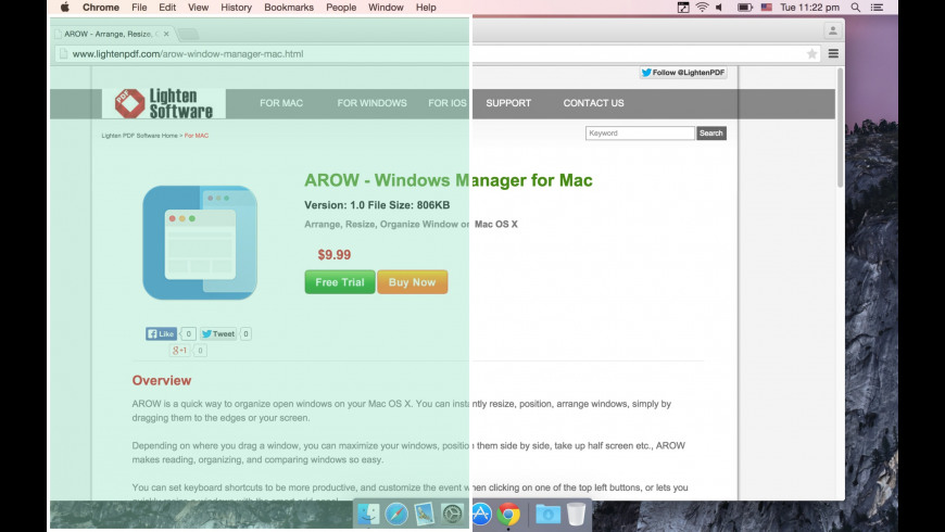 AROW for Mac - review, screenshots