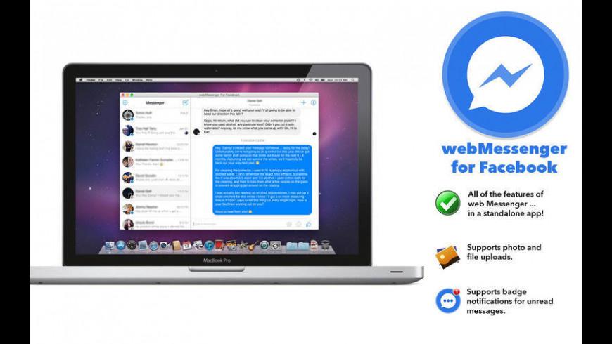 webMessenger For Facebook for Mac - review, screenshots