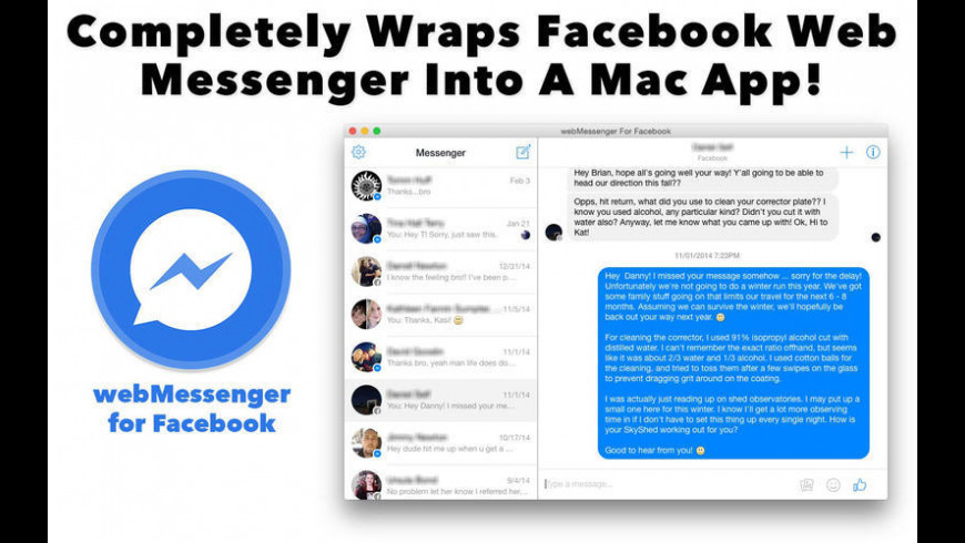 webMessenger For Facebook 1 0 4 Free Download for Mac