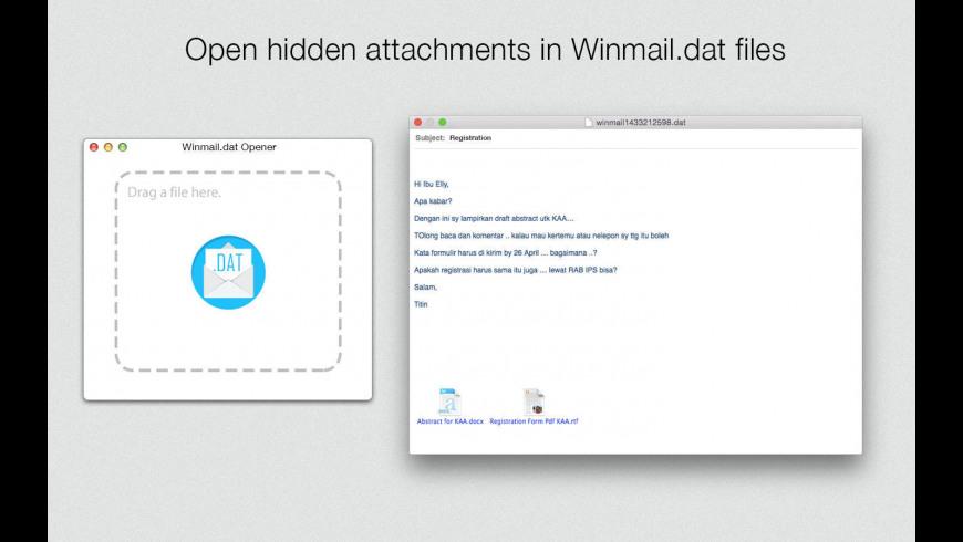 Winmail.dat Opener for Mac - review, screenshots